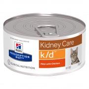 Hill's Prescription Diet -5% Rabat dla nowych klientówHill's Prescription Diet Feline k/d Kidney Care, kurczak - 12 x 156 g Darmowa Dostawa od 89 zł i Promocje urodzinowe!