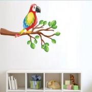EJA Art Different kinds of birds Wall Sticker (Material - PVC) (Pec - 1) With Free Set of 12 pec butterflies sticker