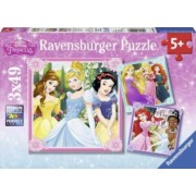 PUZZLE PRINTESE DISNEY 3x49 PIESE Ravensburger