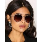 River Island Aviator Sunglasses Solglasögon Gold