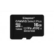 Kingston Canvas Select Plus - Flash-minneskort - 16 GB - A1 /