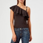 Guess Women's One Shoulder Betty Knitted Top - Jet Black - S - Black