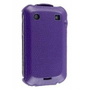 Synthetic Leather Flip Case for BlackBerry Bold 9900 - Blackberry Leather Flip Case (Purple)
