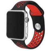 Apple watch sportbandje 42mm / 44mm - Zwart + Rood