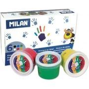 Acuarele 6 culori finger Milan 3576