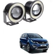 Auto Addict 3.5 High Power Led Projector Fog Light Cob with White Angel Eye Ring 15W Set of 2For Tata Hexa