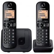 Panasonic KX-TGC212EB Digital två handenhet svart sladdlös telefon med LCD-Display