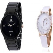 IIK Collction Black and Mxre White Men Watches Couple for Men and Women