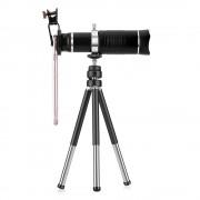Quazar Mobilescope Zoom 20x teleobjektív teleszkópos állvánnyal, fekete