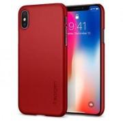 Spigen Etui Thin Fit Do Iphone X Czerwone