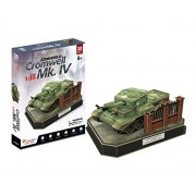 CubicFun JS4203h ArmiBuild Military Scenic Model Army Tank British Cromwell Mk. IV 3D Puzzle, 157 Pieces