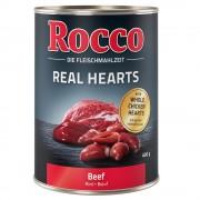 Rocco Real Hearts 6 x 400 g - Nötkött med hela kycklinghjärtan