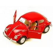 1967 Volkswagen Classic Beetle, Red - Kinsmart 5057D - 1/32 scale Diecast Model Toy Car