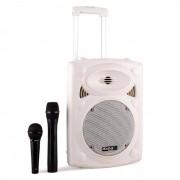 Ibiza Port 8 VHF-BT mobile PA-Box Akku Trolley Bluetooth USB SD 200W RMS weiß