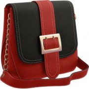 TAP FASHION Stylish Casual Fancy Elegant PU Leather Women's Red, Black Sling Bag