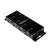 StarTech Hub Adaptador USB 2.0, 4 Puertos, 480 Mbit/s, Negro