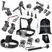 deportes al aire libre de la camara kit de accesorios para GoPro heroe - negro