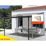 pergola 3x3m avec rideaux de toit