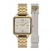 Relógio Euro Sporty Square Dourado Troca Pulseiras Feminino EU2036YPG/T4B