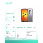 Motorola Smartfon Moto E5 Dual Sim 2/16 GB Flash Grey