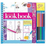My Fabulous Look Book: Fashion Drawing Made Easy [With Paper Frames and 5 Colored Pencils]