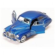 1948 Chevy Aerosedan Fleetline Blue - Motormax Premium American 73266 - 1/24 Scale Diecast Model Car