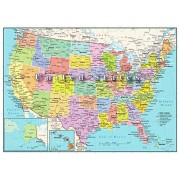 Hennessy Puzzles United States Map Puzzle 300 Piece Educational Highways Rivers Kids and Adults