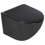 Vas WC suspendat negru cu capac soft close Duroplast , negru
