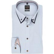 OLYMP Level Five Body Fit Hemd bleu, Faux-uni Herren 38 - S bleu