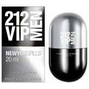 Carolina herrera 212 vip men pills 20 ml eau de toilette edt spray profumo uomo