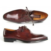 Paul Parkman Plain Toe Hand Painted Oxford Dress Shoes Brown & Bordeaux 22T55