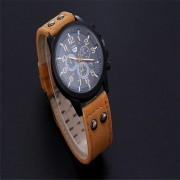 2017 Vintage Classic Mens Waterproof Date Leather Strap Sport Quartz Army Watch watches Free mail mechanical watch #30