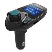 Auto Mp3-speler Draadloze Bluetooth Fm-zender FM Modulator HandsFree Carkit A2DP 5 V 2.1A USB Charger voor iPhone Samsung T11