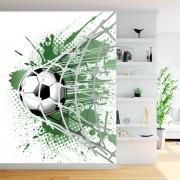 Fototapet Minge Fotbal In Plasa FT527 (Optiuni Material Fototapet: Autocolant Perete Laminat Mat, MP: 1 mp)