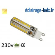 Ampoule LED G9 3.5w smd 2835 blanc chaud 230v