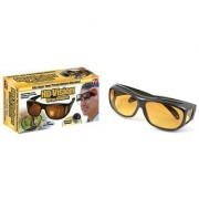 Night Vision Wrap Arounds Glasses In Best Price Yellow Color For Perfect Night Driving 1Pcs.