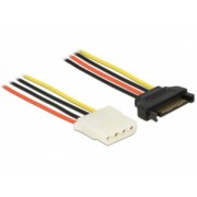 Delock Power Cable SATA 15 pin female > 4 pin female 30 cm