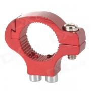 adaptador de conversion de titular de la botella de agua del manillar de aleacion de aluminio bicicleta - rojo