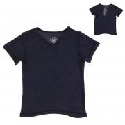 Zadig & Voltaire T-Shirt col tunisien irisé bleu marine