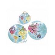 Cutie Puzzle Janod - Puzzle Rotund Cu Doua Fete Planeta Albastra, 208 Piese - J02926