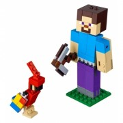 Minecraft Lego Steve with Parrot 159 piese