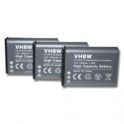 vhbw 3 x batterie 1400mAh (3.8V) Set pour caméra Nikon CoolPix P900, P610 comme EN-EL23.