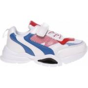 Pantofi sport copii Sunniva albi cu albastru