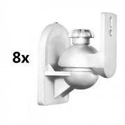 LUA SB-28 Set de 8 supports pour enceintes hifi <3,5kg blanc