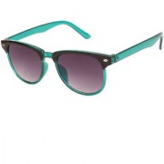 Arzonai Clubaster Wayfarer Green-Black UV Protection Sunglasses For Men & Women [MA-319-S5 ]