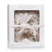 Cam Cam Copenhagen Gift Box With Swaddle And Peacock Rattle Home Sleep Time Creme Cam Cam Copenhagen