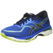 ASICS Men's Gel-Cumulus 19 Directoire Blue/Peacoat/Energy Green Running Shoes - 12 UK/India (48 EU)(13 US)