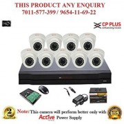 Cp Plus 1.3 MP HD 16CH DVR + Cp plus HD DOME IR CCTV Camera 9Pcs + 1 TB HDD + POWER SUPLAY + BNC + DC CCTV COMBO