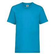 Koszulka dziecięca z krótkim rękawem Valueweight Fruit of the Loom Azurowy
