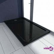 vidaXL Pravokutna ABS tuš-kada crna 70 x 120 cm